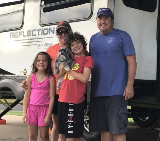 Allison Williams and her family on a RV vacation