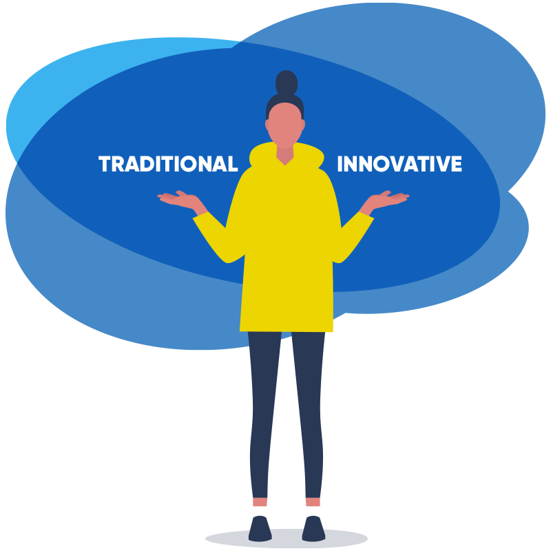 Making a choice between traditional tech solutions or innovative tech solutiuons