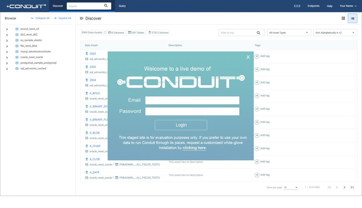 Try Conduit with sample data