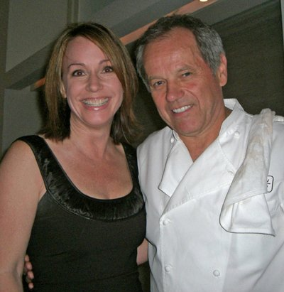 Michelle Poole working with Wolfgang Puck